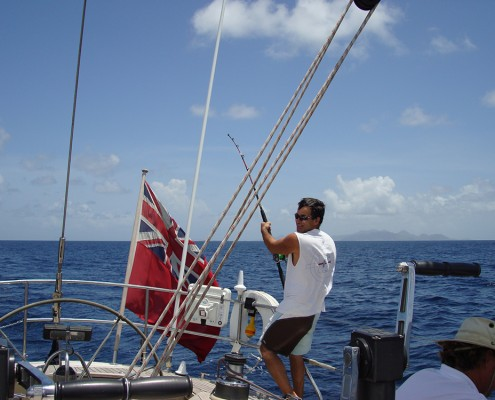 Fishing from your charter yacht