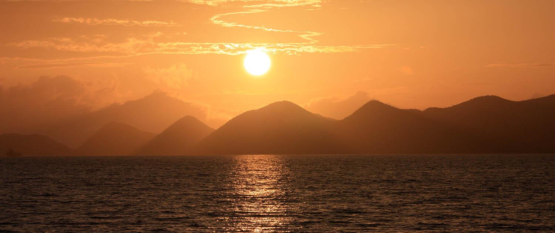 Sunset over Tortola British Virgin Islands