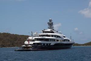 Superyacht Attessa IV starboard side