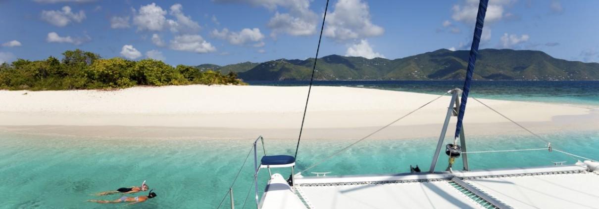 Snorkeling from a Catamaran