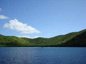 Waterlemon Cay St John USVI in the VI National Park