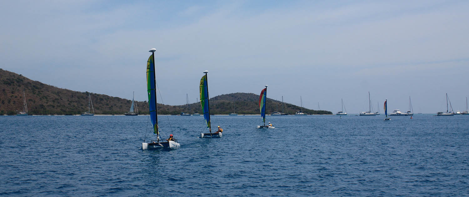 Corporate event dinghy racing