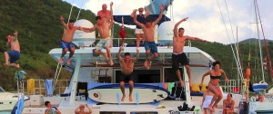 Family fun on a Catamaran
