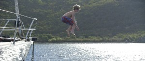 Jumping off the Bow
