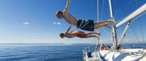 Diving off the Yacht