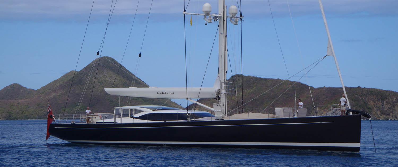 Monohull sailing yacht Lady B