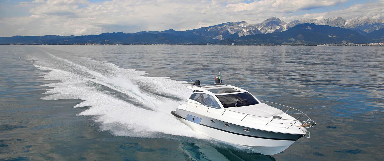 Motor yacht in Italy