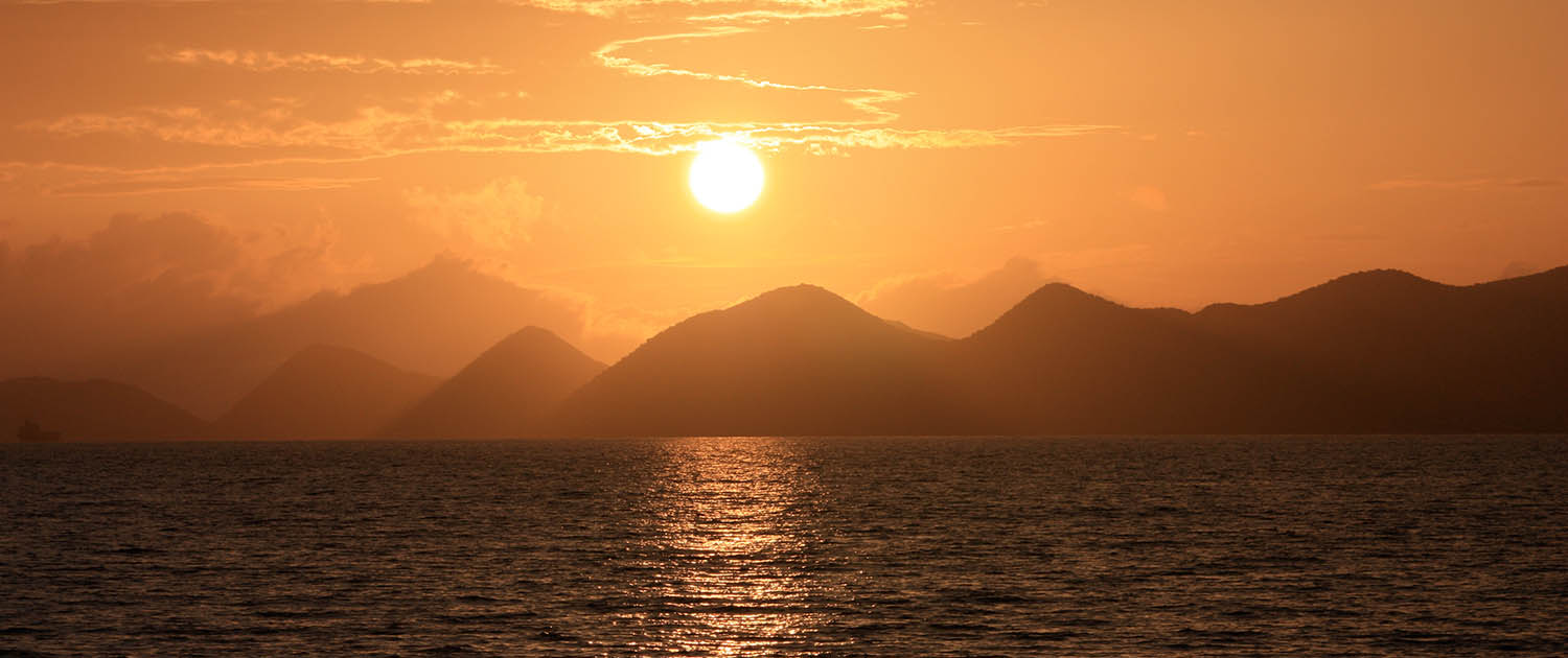 Sunset over Tortola British Virgin Islands