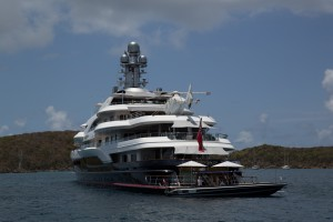 Superyacht Attessa IV stern & Eurocopter