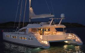 Catamaran at Night