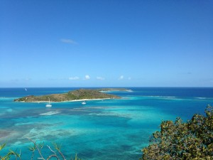 Eustatia Island and Necker Island from Virgin Gorda