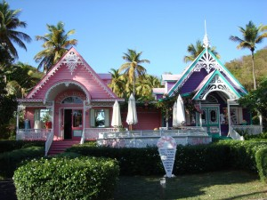 Pink & Purple House Mustique The Grenadines
