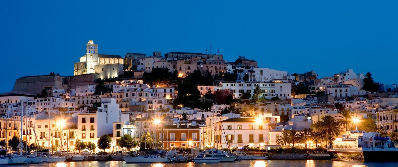 Ibiza Town by Night