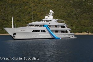 Superyacht Majestic complete with Waterslide