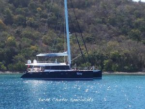 Catamaran Catsy on a BVI Crewed Yacht Charter