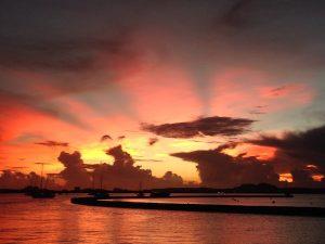 Stunning Caribbean Sunset in St Martin