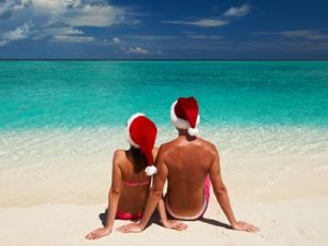 Christmas Vacation on a Beach