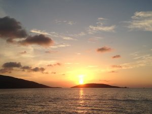 Stunning Sunsets on a BVI Crewed Yacht Charter