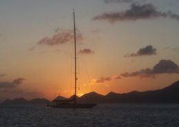 Sailing Yacht Endeavour J Class Sunset in the BVI