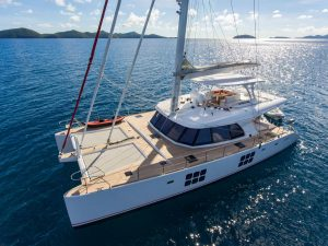 Catamaran Euphoria 2016 Sunroof 60ft available for BVI Crewed Yacht Charter