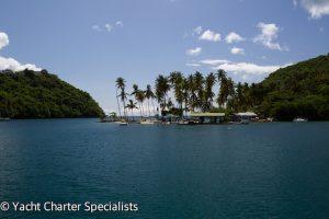 Doolittles from a Superyacht Marigot Bay St Lucia