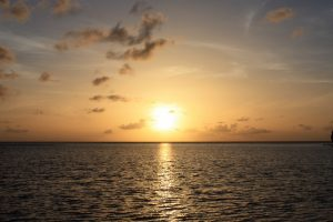 Sunset from a Luxury Yacht Charter Chatham Bay Union Island SVG