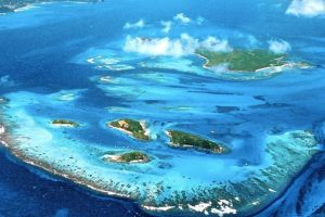 Aerial View of Tobago Cays