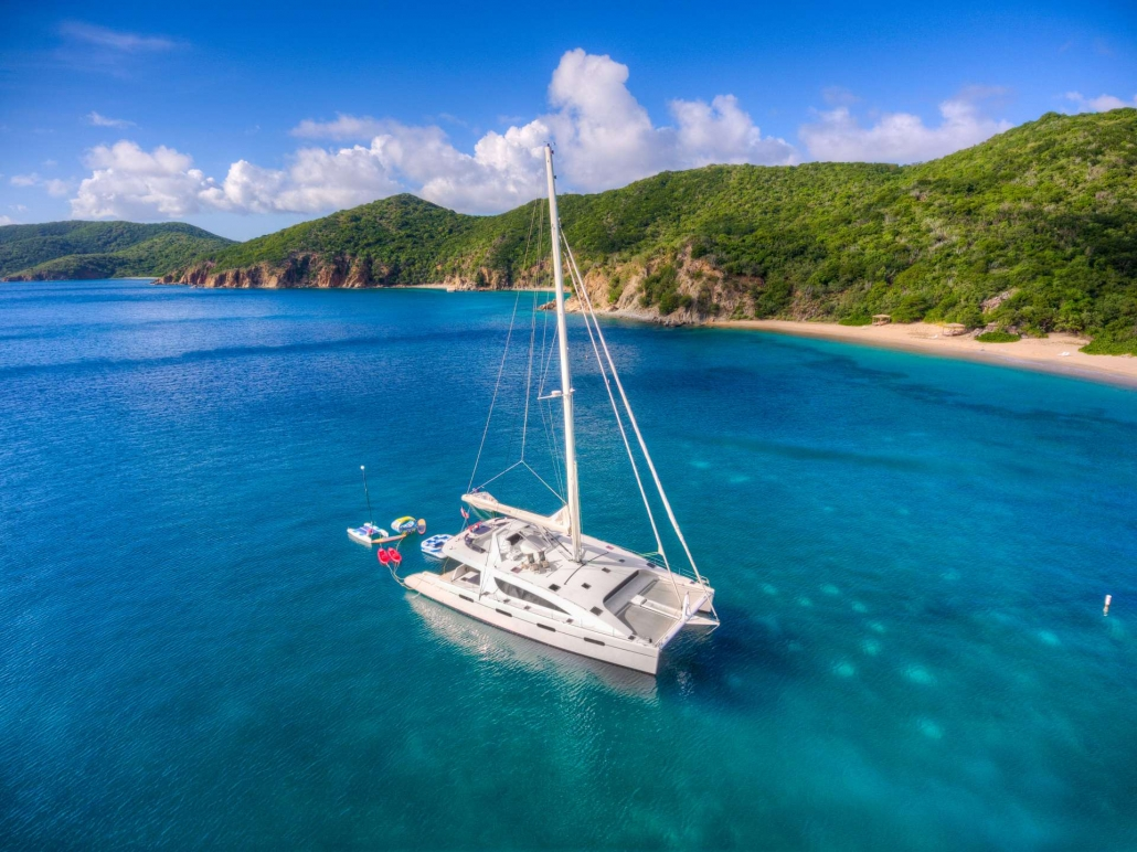 Catamaran Zingara available for Luxury Catamaran Yacht Charters in the British Virgin Islands