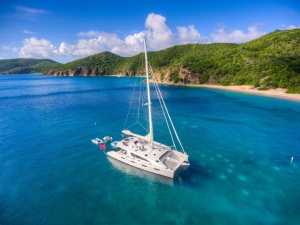 Zingara Catamaran available for BVI Crewed Yacht Charters